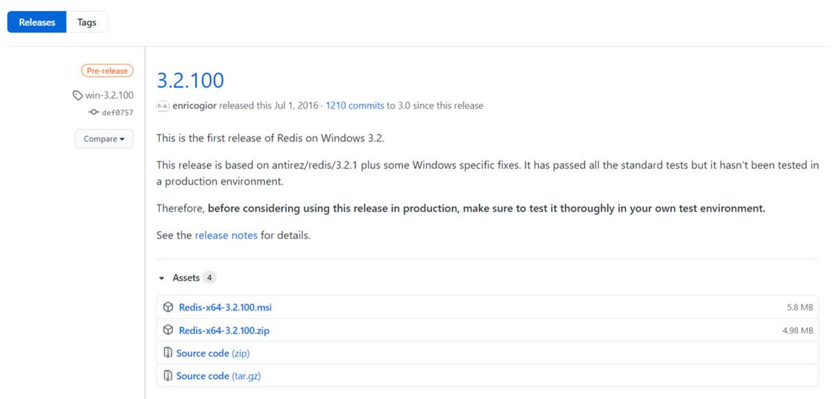 redis安装windows(redis基本简介与安装)(1)