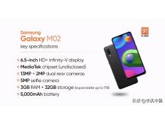 三星低端手机有哪些(三星低端手机Galaxy M02在印度发布)