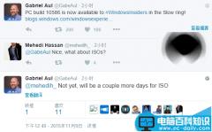 Win10预览版10586慢速版ISO镜像将至 三日内推送