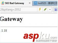 502 bad gateway是什么意思?502 bad gateway错误解决办法